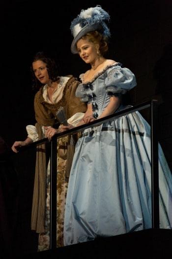 Julia Zemiro and Eryn Jean Norvill in Cyrano de Bergerac. Photo by Brett Boardman.