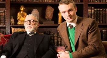 William Zappa as Sigmund Freud and Andrew Henry as C.S. Lewis in Freud's Last Session. Photo Supplied.