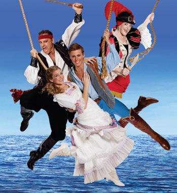 Andrew O'Keefe, Nancye Hayes, Georgina Hopson and  Billy Bourchier in The Pirates of Penzance. Photo Supplied.