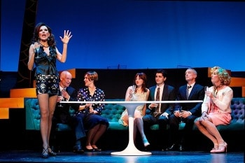 Rhonda, Gary, Marg, Emily, Rob, Simon, Todd in La Cage aux Folles. Image by Jeff Busby