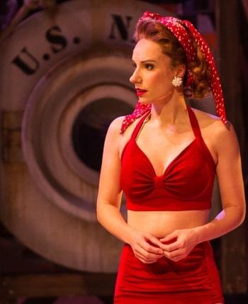 Erin James as Ensign Cora MacRae in South Pacific. Image by Kurt Sneddon