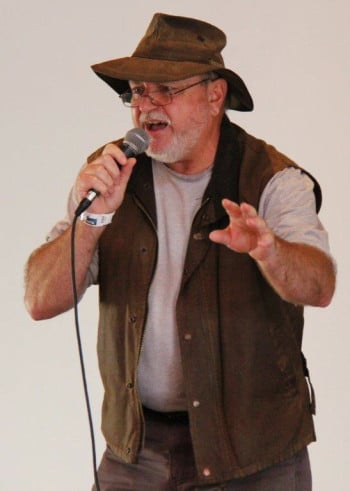 Colin Driscoll as the Ghostly Swagman. Photo by Jim McAlinden