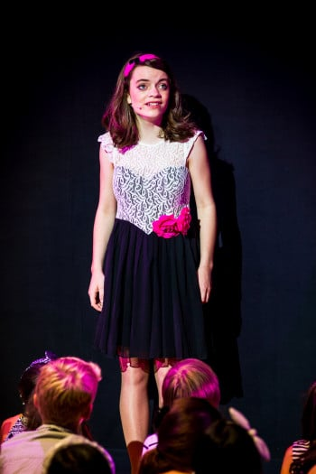 Harmony Lovegrove as the Narrator. Photo by Grant Leslie.
