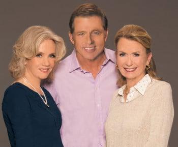 Hayley Mills, Maxwell Caulfield and Juliet Mills. Photo by Greg Gorman