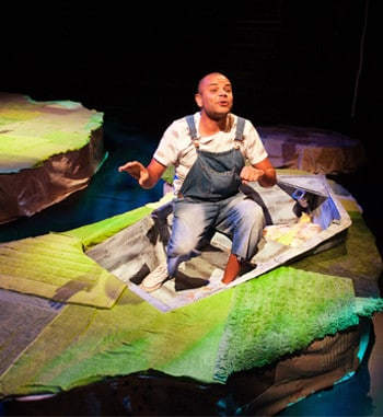 Luke Carroll in Wind in the Willows - La Boite Theatre. Photography: Dylan Evans.