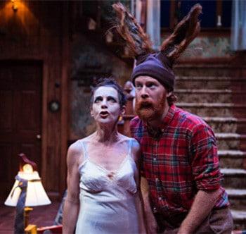 Christen O'Leary and Kieran Law in A Midsummer Night's Dream - La Boite Theatre. Image Supplied.