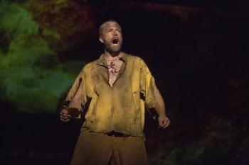 Simon Gleeson as Jean Valjean. Image by Matt Murphy
