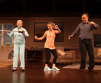 Noeline Brown, Darren Gilshenan and Rachael Beck in Mother & Son - Queensland Theatre Company. Image Supplied.