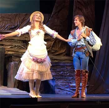 Georgina Hopson and Billy Bourchier in Pirates of Penzance. Image Supplied.