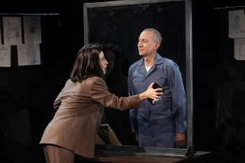 Jenn Harris as Clarice Starling and David Garrison as Hannibal Lecter in SILENCE! The Musical