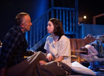 James Bean and Justina Ward in The Diary of Anne Frank.  Photograph by Matthias Engesser.