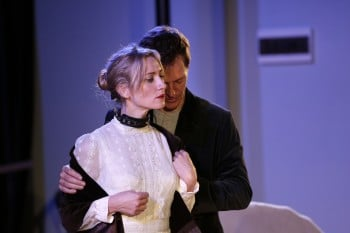 Gareth Reeves and Anna Houston in Venus in Fur. Photograph by Helen White.