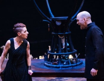 Christen O'Leary and Damien Cassidy in Medea - La Boite Theatre Company. Photography by Dylan Evans.