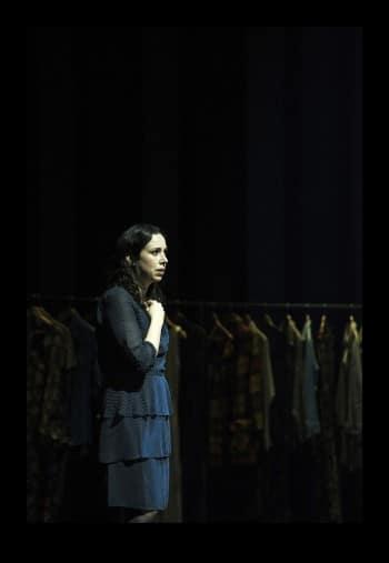 Alison Bell in Betrayal. Photo by Shane Reid
