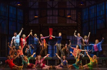 The original Broadway cast of Kinky Boots. Image supplied