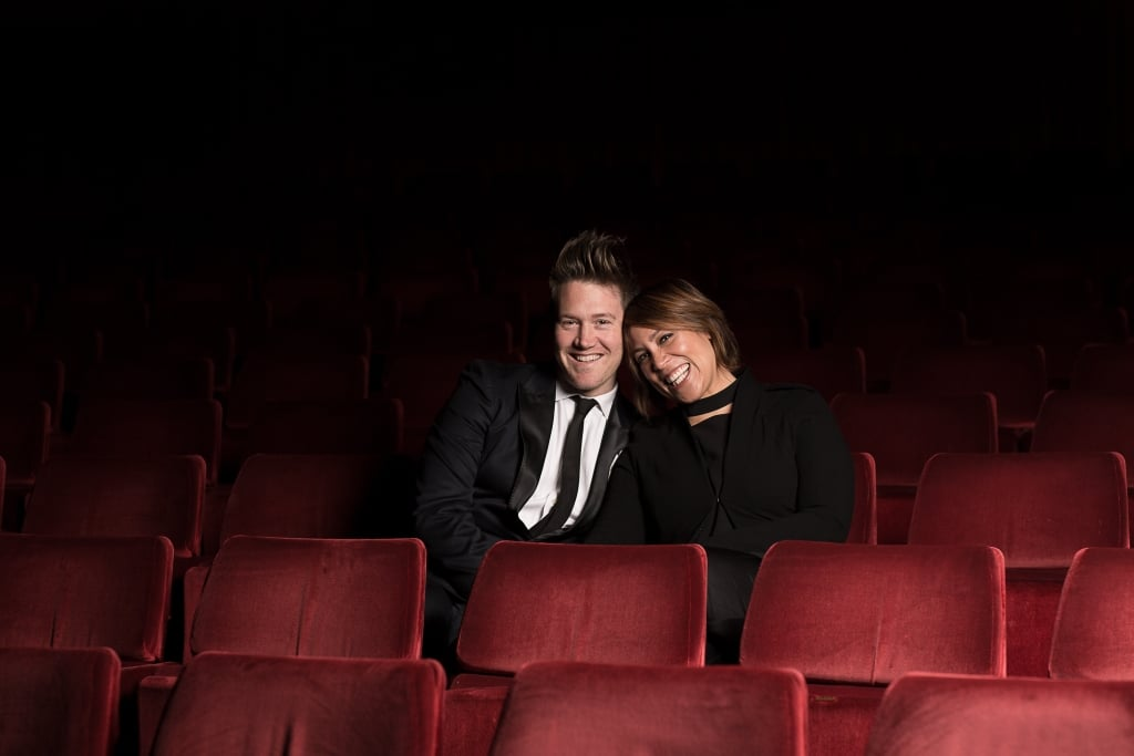 2015 Twisted Broadway Hosts Kate Ceberano and Eddie Perfect. Photo by Kayzar Bhathawall