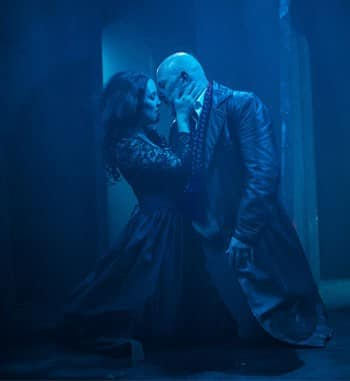 Nellie Lee and David Whitney in Dracula - shake & stir. Image by Dylan Evans.