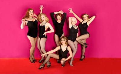 From Left to Right: Leasa Mann, Honey B Goode, Adelaide Everheart, Dolores Daiquiri, Willow J Bottom: Caterina Vitt | Photo by: Rob Vallender Photography