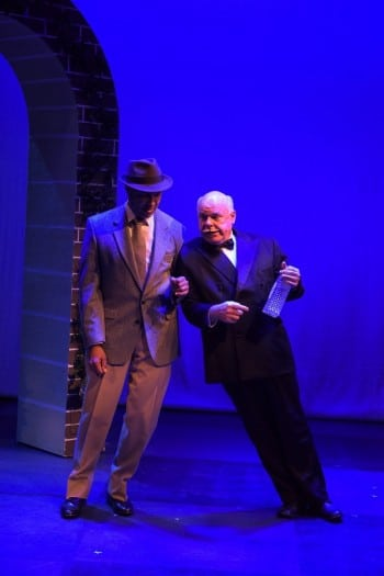 Bert LaBonte and Laurence Coy in High Society at Hayes Theatre Co. Image by Kurt Sneddon