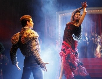 Phoebe Panaretos and Thomas Lacey - Strictly Ballroom. Photo by Jeff Busby.
