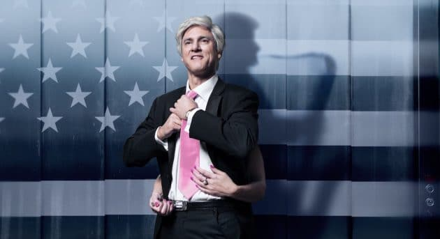 Matt Dyktynski as Bill Clinton in Clinton The Musical. Image by Robert Frith