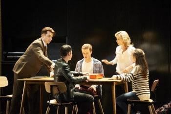 Brendan Hanson, James Bell, Joel Horwood, Rachael Beck, Shannen Alyce. Next to Normal. Image by Gary Marsh
