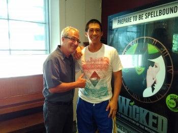 Chris Fung with Ben Elton