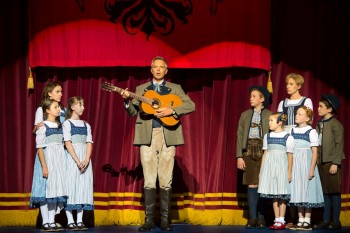 Cameron Daddo and the children of The Sound of Music. Photo by James Morgan.