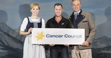 Amy Lehpamer and Cameron Daddo from The Sound Of Music and Shannan Ponton from Cancer Council