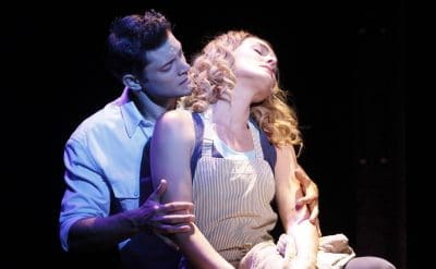Rob in Ghost the musical. Photo by Jeff Busby