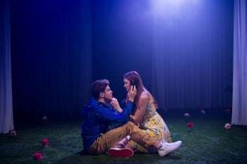 Jonathan Hickey and Bobbie-Jean Henning in The Fantasticks. Photo by Marnya Rothe