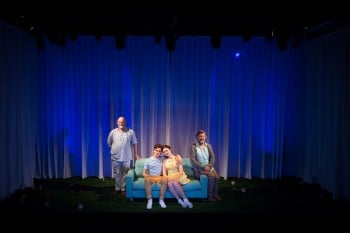 Laurence Coy, Jonathan Hickey, Bobbie-Jean Henning, Garry Scale The Fantasticks. Photo by Marnya Rothe