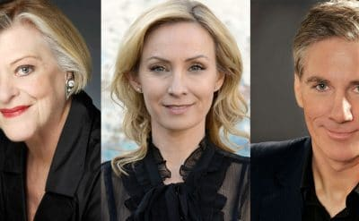 Nancye Hayes, Lisa McCune and David Hobson will star in Follies in Concert. Produced by Storeyboard Entertainment