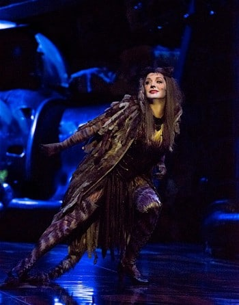 Delia Hannah as Grizabella in CATS. Image by Oliver Toth