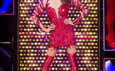 Callum Francis as Lola in Kinky Boots. Photo Credit Darren Bell.