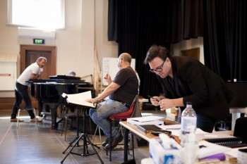 Cameron Menzies in the Lucia rehearsal room.