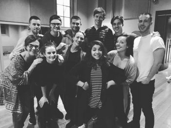 Some of the cast and creatives after one of our full runs