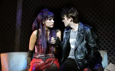 Erin Clare and Gareth Keegan in We Will Rock You. Photo by Jeff Busby.