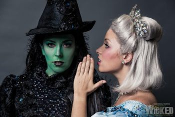 Rosa McCarty and Emily McKenzie in CLOC Musical Theatre's Wicked. Photography by Ben Fon.