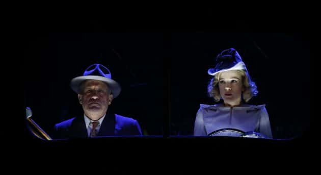 Richard Piper and Claire van der Boom in MTC's Double Indemnity. Image by Jeff Busby