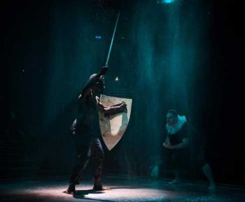 Pacharo Mzembe and Todd MacDonald in The Tragedy of King Richard III - La Boite. Image Supplied.