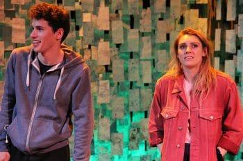 Alex Packard and Lauren Pegus in ATYP's Drift.