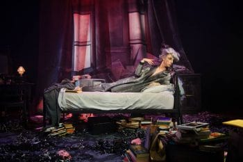 Paul Capsis as Quentin Crisp in Resident Alien. Photography by Sarah Walker.