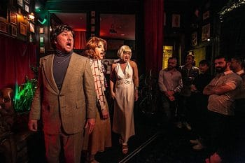 """Sydney - September 19, 2016: A scene from """"Hidden Sydney"""", an immersive cabaret experience set in the former Kings Cross brothel The Nevada (photo by Jamie Williams)"""