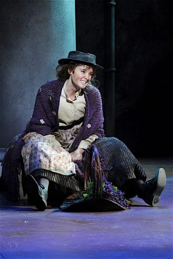 Anna O'Byrne as Eliza Doolittle in My Fair Lady. Image by Lightbox Photography
