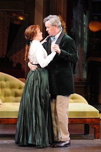 Anna O'Byrne and Alex Jennings in My Fair Lady. Image by Lightbox Photography
