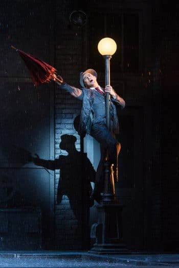 Rohan Browne as Don Lockwood in Singin In The Rain. Image by Darren Thomas