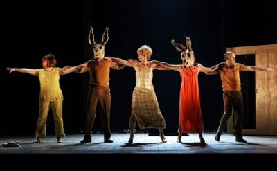 The cast of Sydney Theatre Company's Away. © Prudence Upton