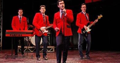 The original Australian cast of Jersey Boys   Photo by Jeff Busby