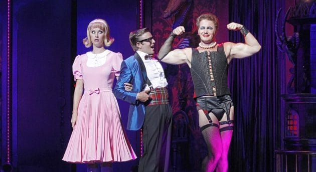 Craig McLachlan, Christie Wheelan Browne and Tim Maddren in the 2014 production of The Rocky Horror Show | Photo by Jeff Busby